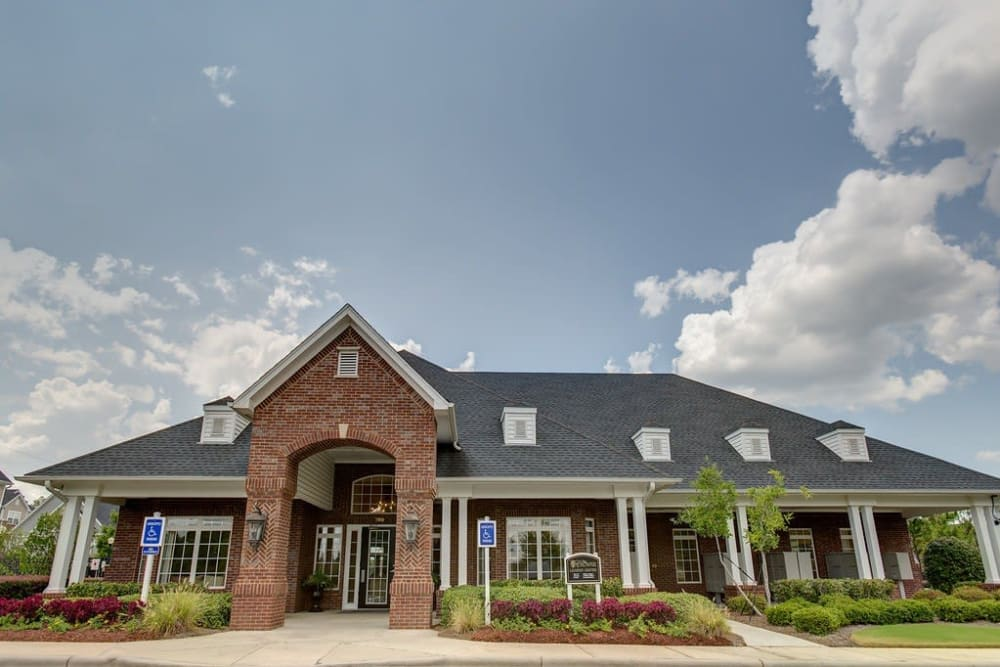 Exterior of the clubhouse  at Reserve at Long Point in Hattiesburg, Mississippi