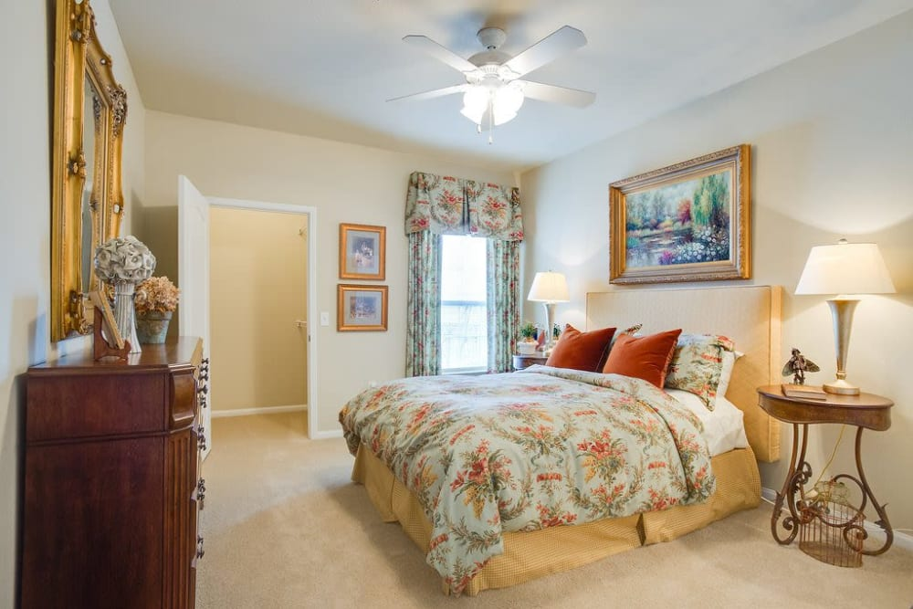 Beautiful, spacious master bedroom at Reserve at Long Point in Hattiesburg, Mississippi