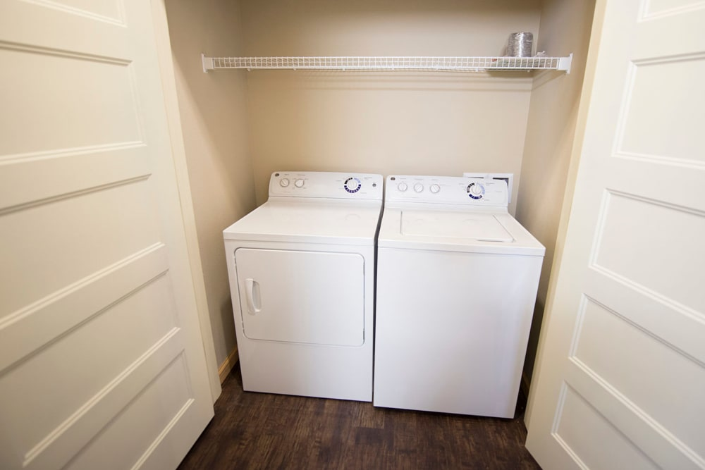 Included washer and dryer at Tradan Heights in Stillwater, Oklahoma