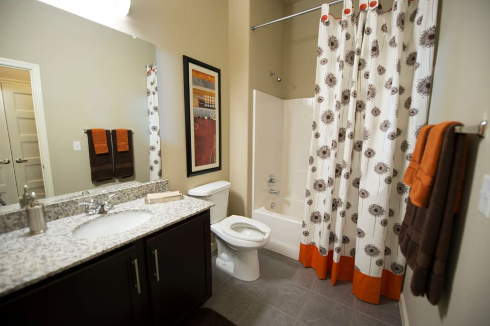 Large bathroom at Tradan Heights in Stillwater, Oklahoma
