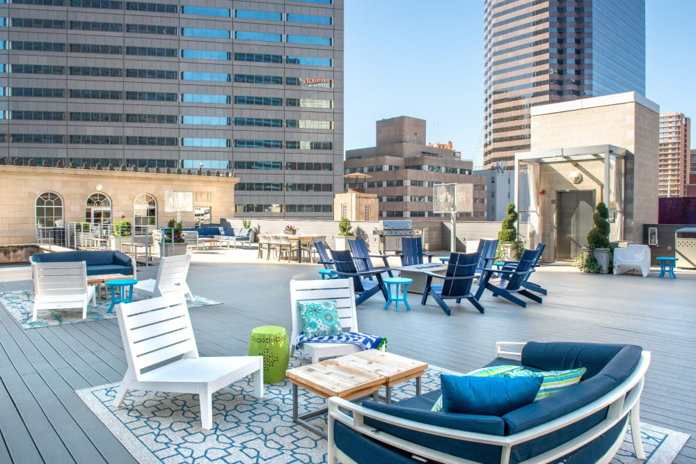 Our luxury apartments in Dallas, Texas showcase outdoor seating