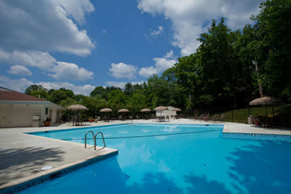 Swimming pool at Willowbrook Apartments in Jeffersonville, Pennsylvania