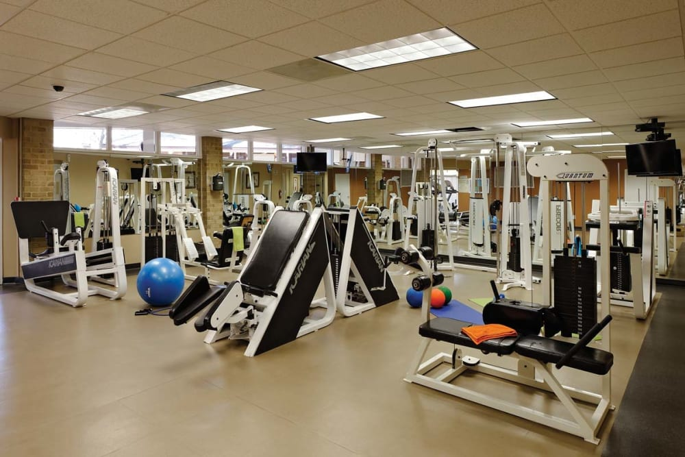 Fitness center at Mount Vernon Square Apartments in Alexandria, Virginia