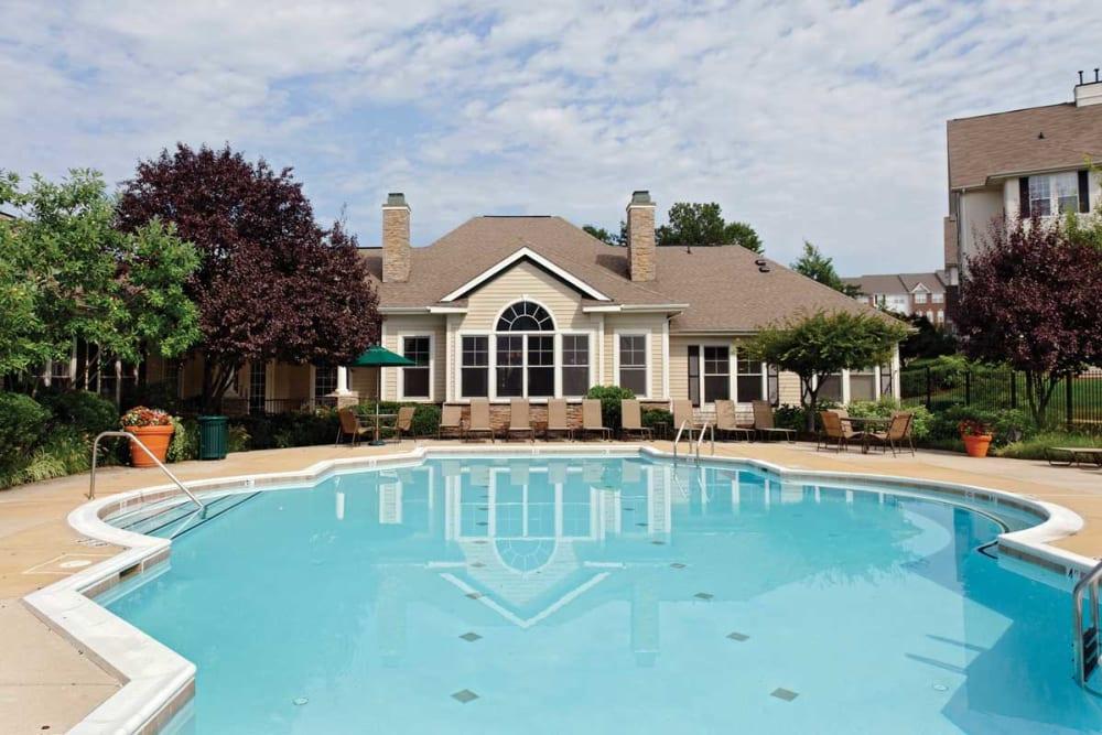 Swimming pool at The Village at Potomac Falls Apartment Homes in Sterling, Virginia
