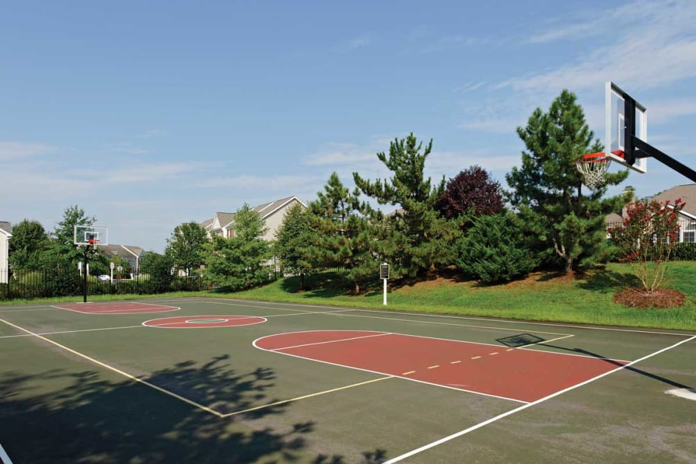 Basketball court at The Village at Potomac Falls Apartment Homes in Sterling, Virginia