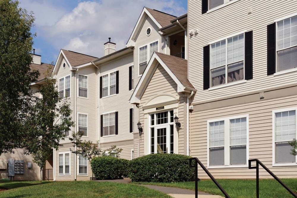 The Village at Potomac Falls Apartment Homes' apartment buildings in Sterling, Virginia