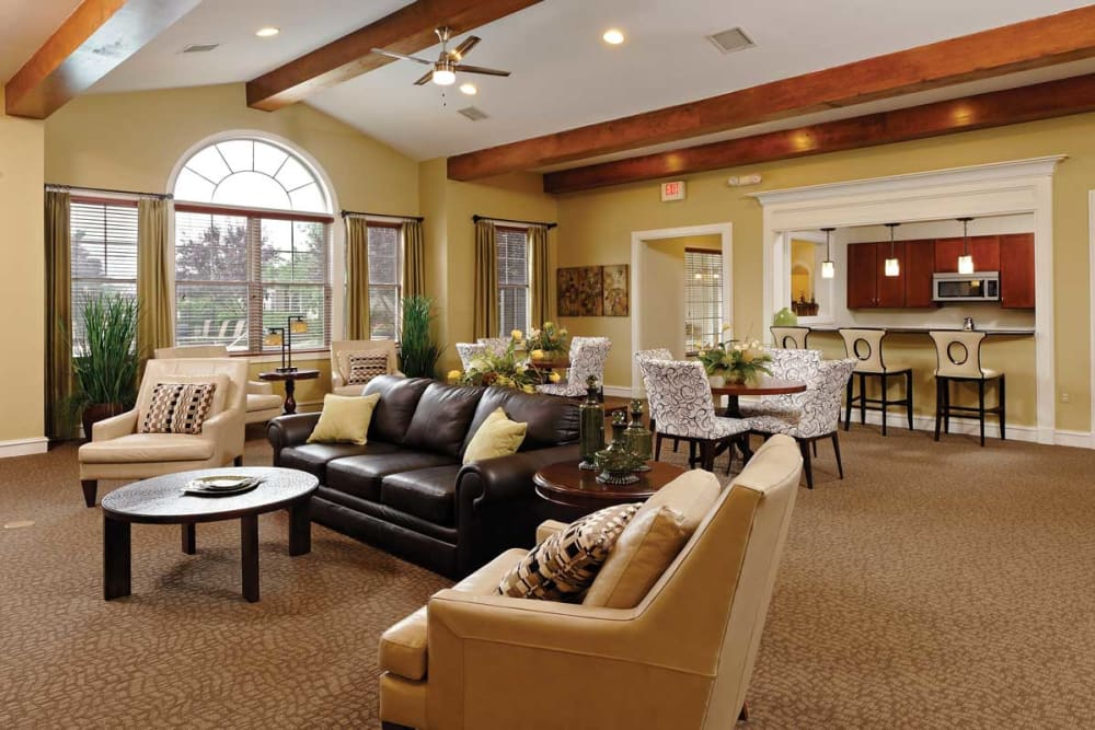 Clubhouse interior at The Village at Potomac Falls Apartment Homes in Sterling, Virginia