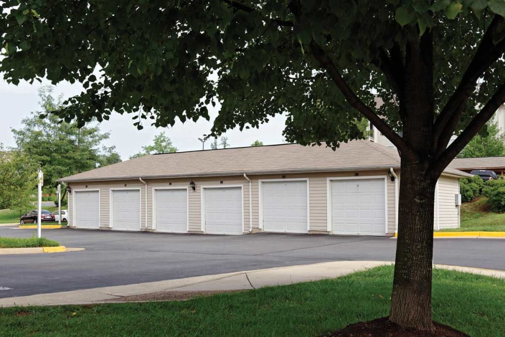 Garages available at The Village at Potomac Falls Apartment Homes in Sterling, Virginia