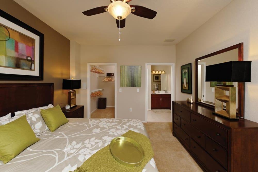 Spacious bedroom at The Village at Potomac Falls Apartment Homes in Sterling, Virginia