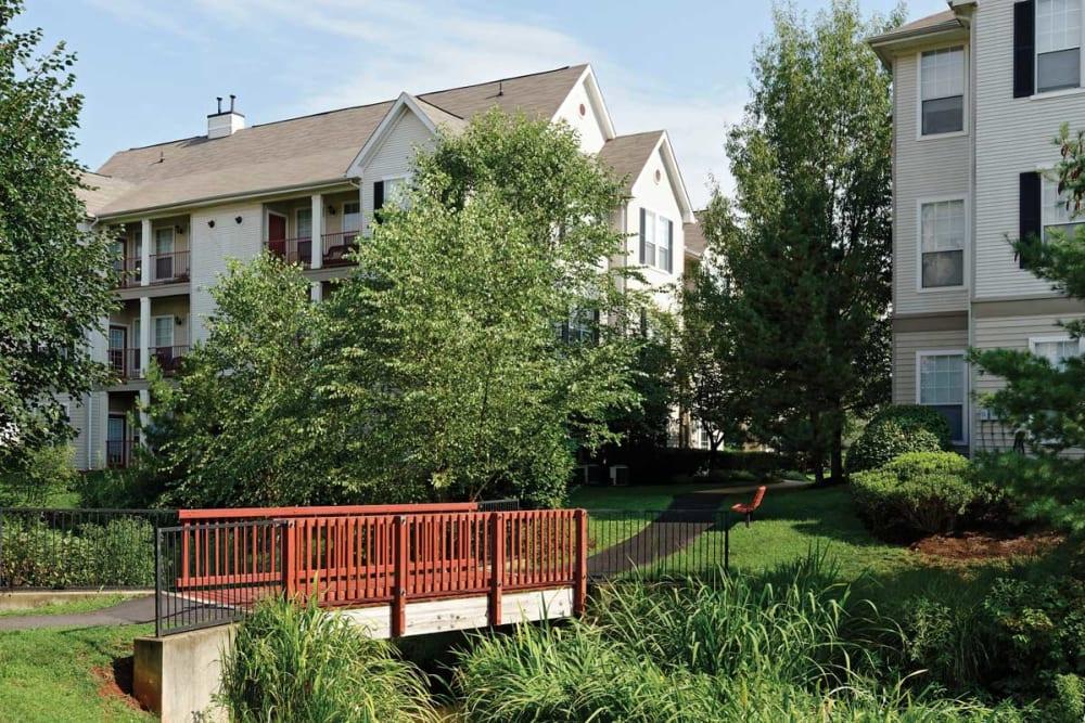 Walking paths at The Village at Potomac Falls Apartment Homes in Sterling, Virginia
