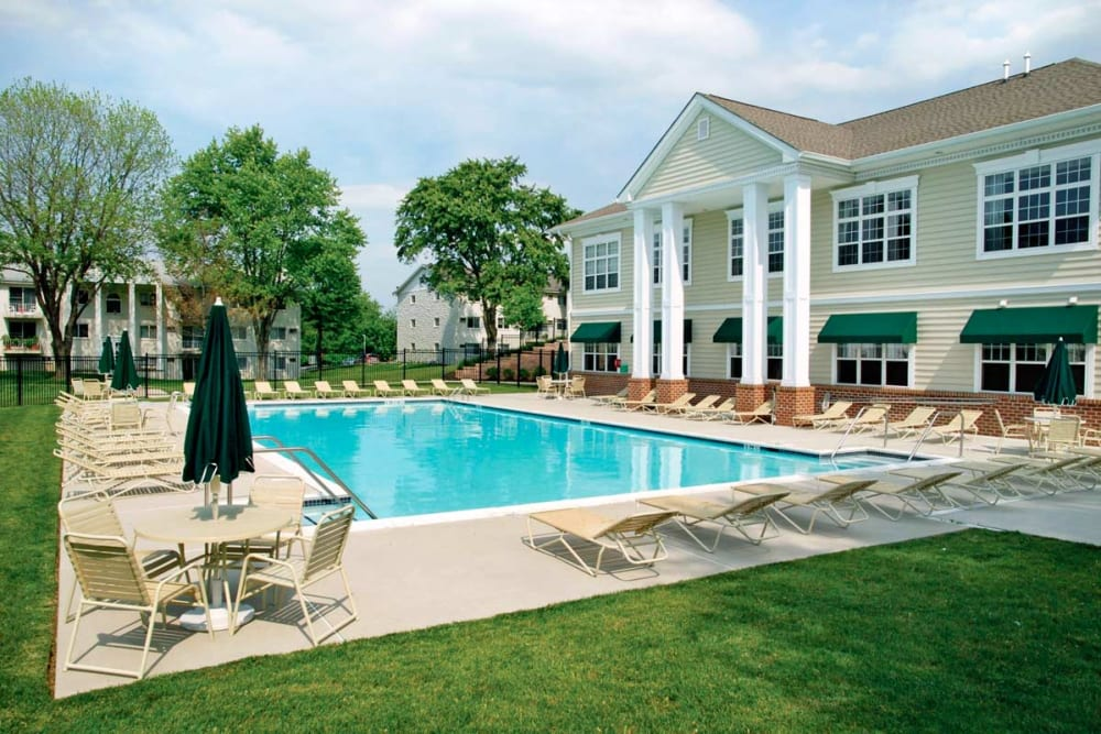Swimming pool at Stonegate at Devon Apartments in Devon, Pennsylvania