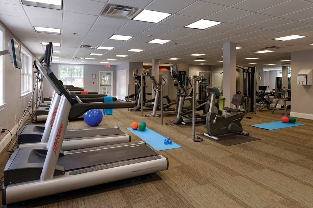Fitness center at Stonegate at Devon Apartments in Devon, Pennsylvania