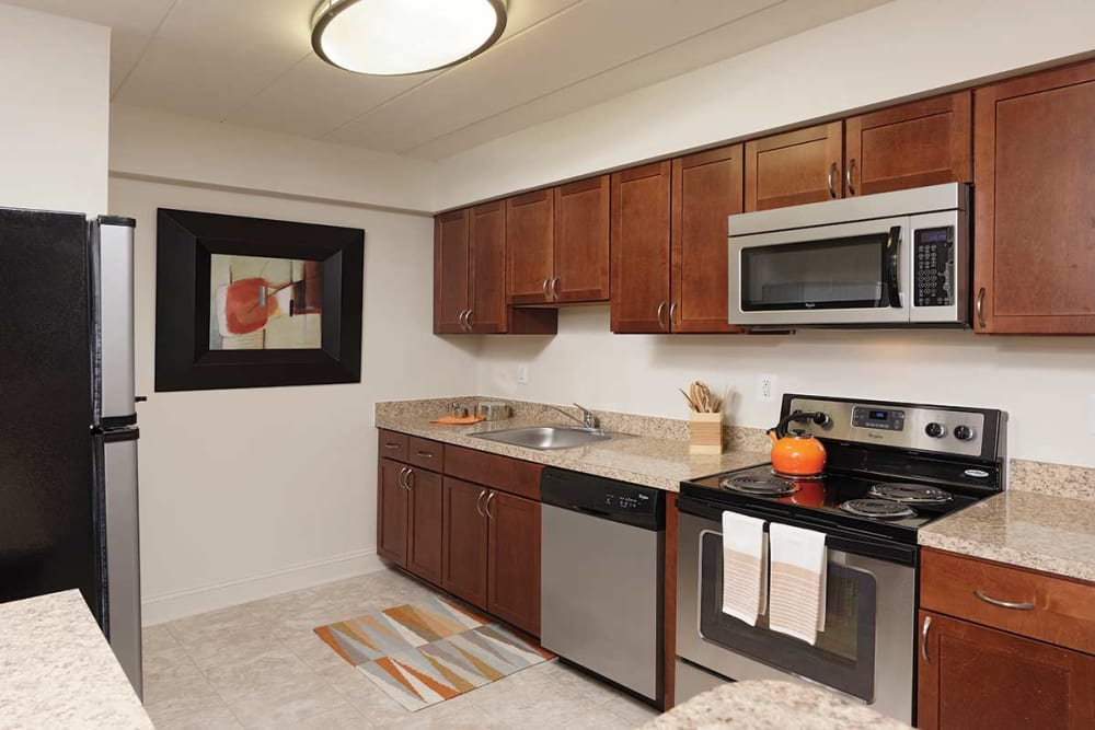 Kitchen at Stonegate at Devon Apartments in Devon, Pennsylvania