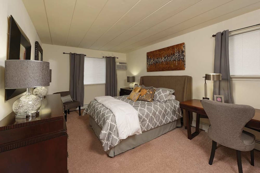 Spacious bedroom at Stonegate at Devon Apartments in Devon, Pennsylvania