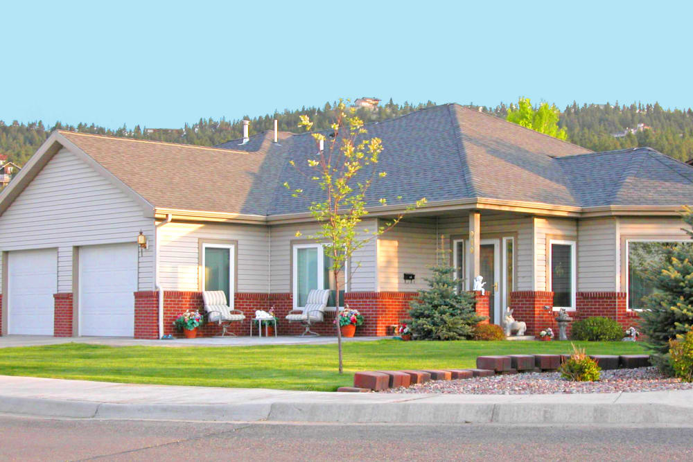 An independent living cottage at Touchmark on Saddle Drive in Helena, Montana