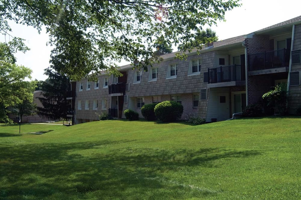 Exterior of Sherry Lake Apartment Homes' building in Conshohocken, Pennsylvania
