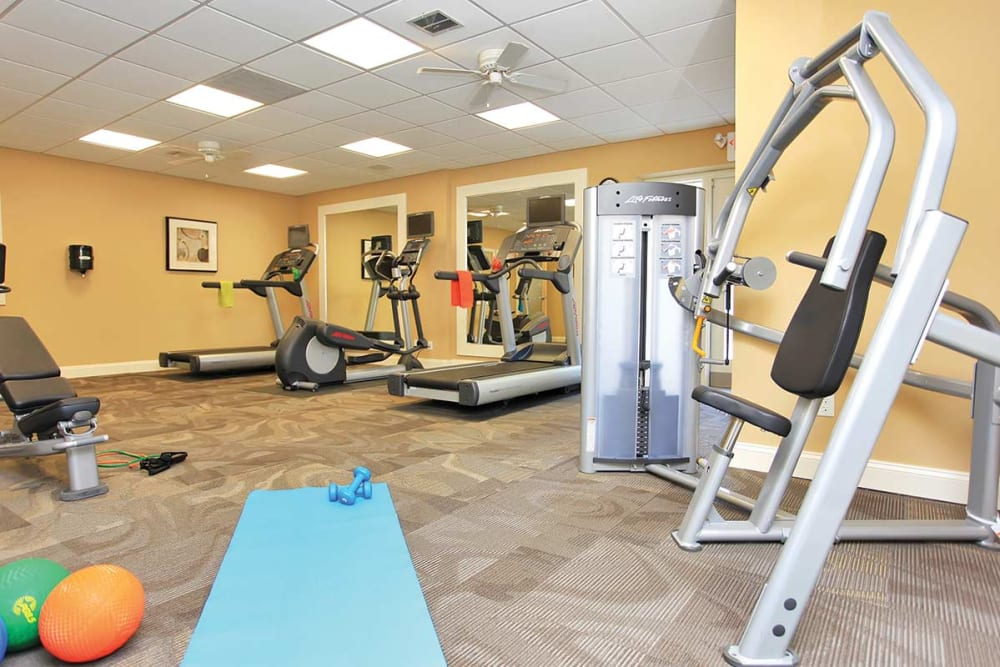 Fitness center at Waterview Apartments in West Chester, Pennsylvania