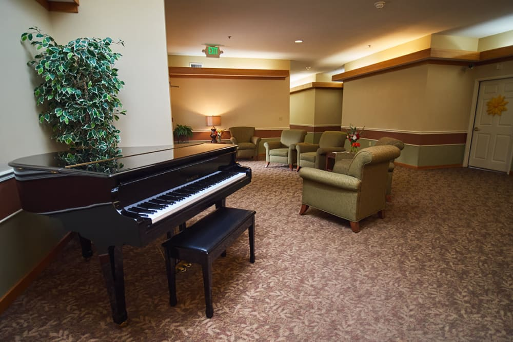 Piano in common area