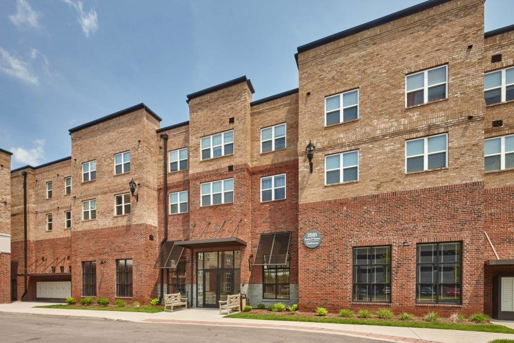 Exterior building of Trifecta Apartments in Louisville, Kentucky