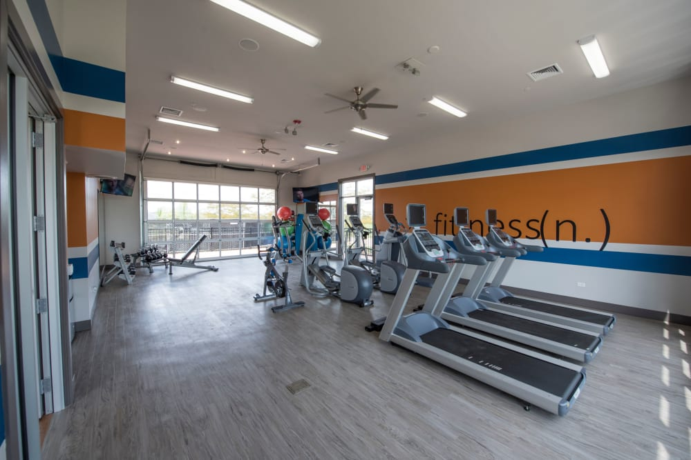 fitness center at Springs at Weber Road in Romeoville, IL