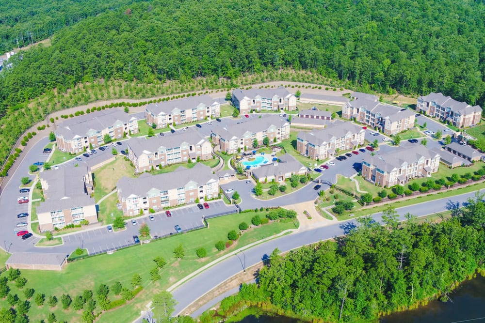 Aerial view of Chenal Pointe at the Divide in Little Rock, Arkansas.