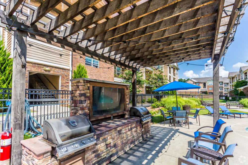 Outdoor grills at Chenal Pointe at the Divide in Little Rock, Arkansas.