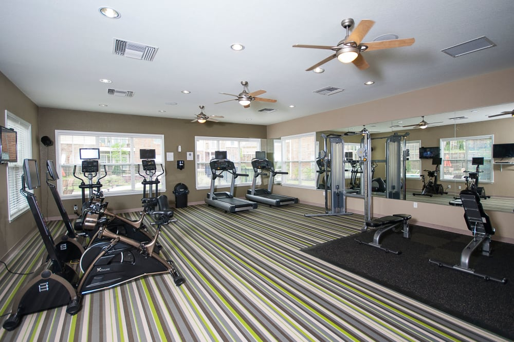 Fitness room at Chenal Pointe at the Divide in Little Rock, Arkansas.