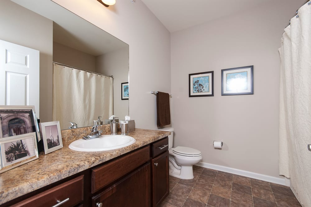 Spacious bathrooms at Chenal Pointe at the Divide in Little Rock, Arkansas.