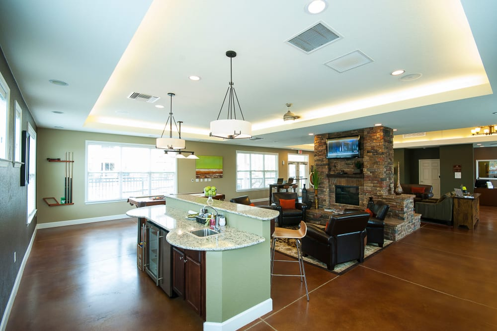 The clubhouse kitchen at Chenal Pointe at the Divide in Little Rock, Arkansas.