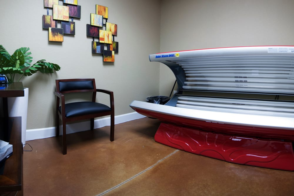 Tanning bed at Chenal Pointe at the Divide in Little Rock, Arkansas.
