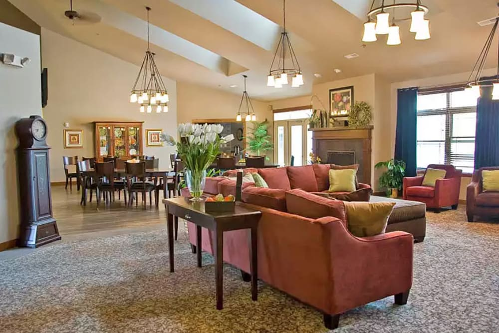 Main living space at the heart of American Grand in Kaukauna, Wisconsin