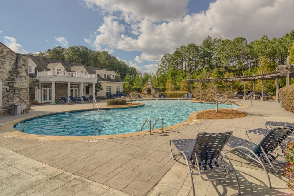 Pool deck at Apartments at the Venue in Valley, AL