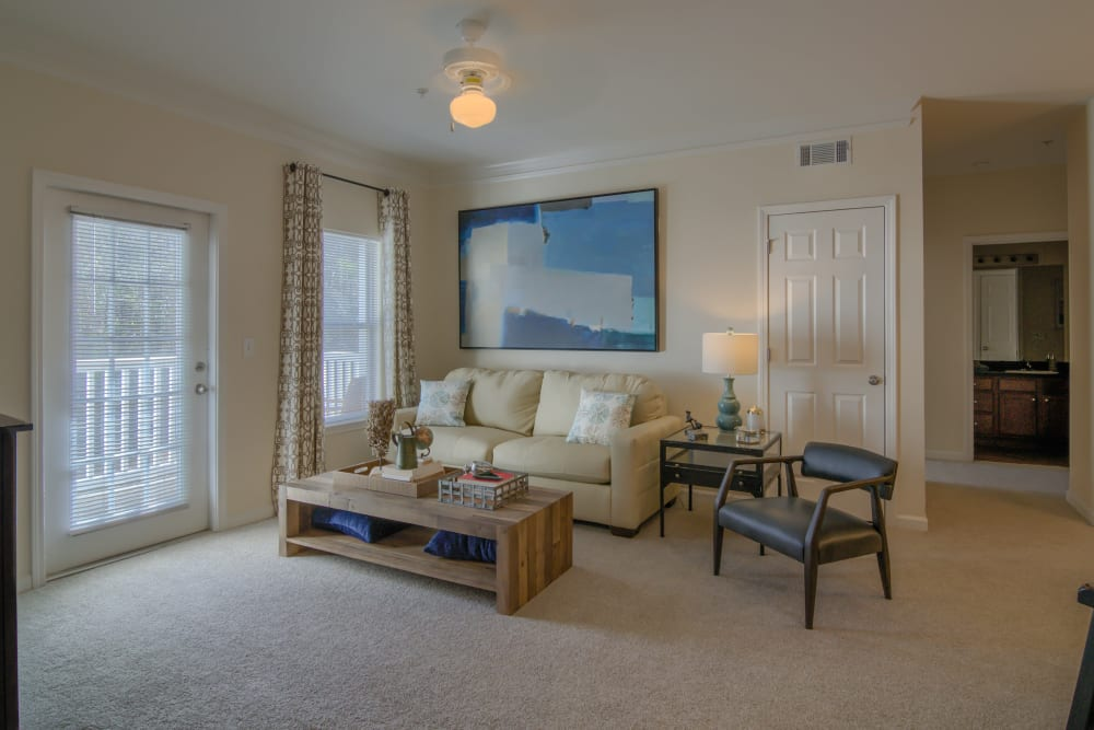 Spacious Living room at Apartments at the Venue in Valley, AL