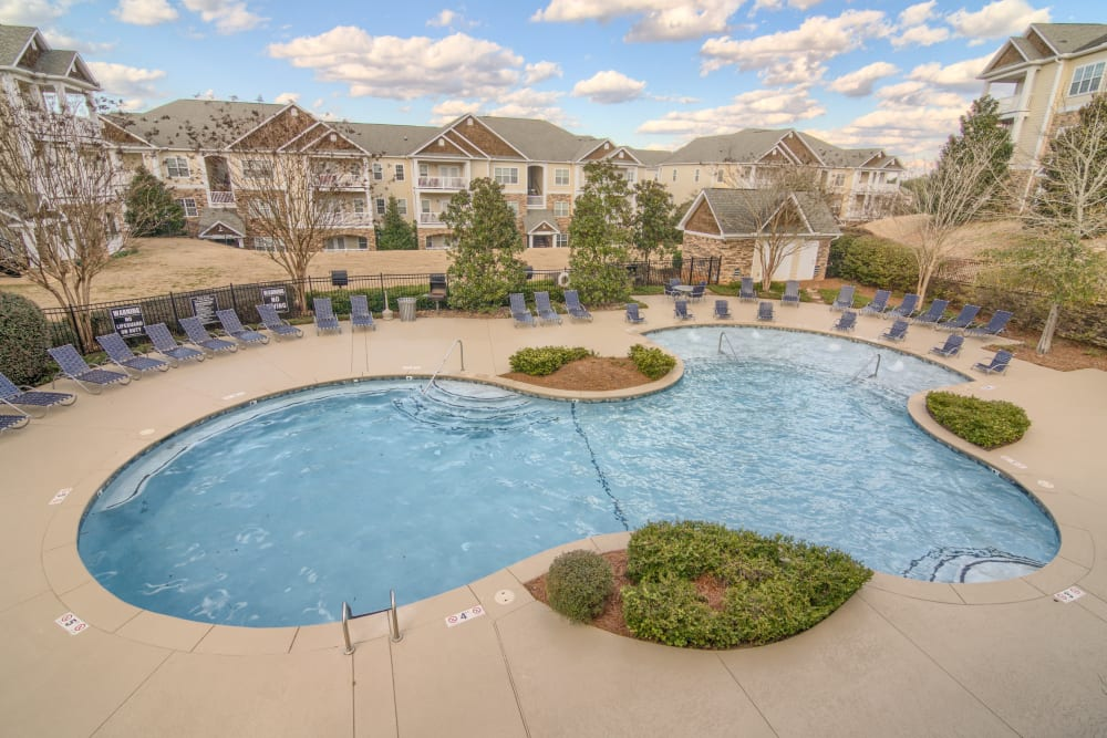 Outdoor pool at Apartments at the Venue in Valley, AL
