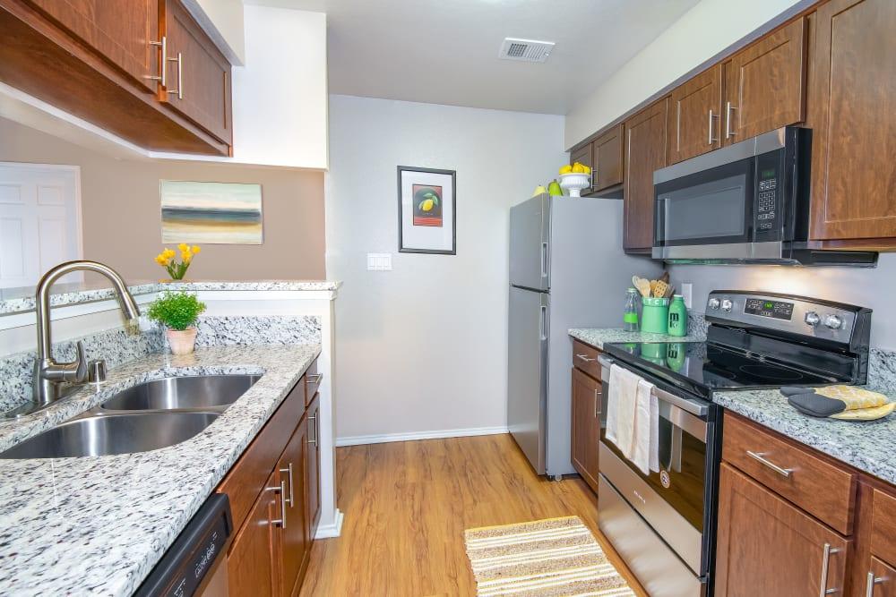 Kitchen at Rancho Palisades in Dallas, Texas