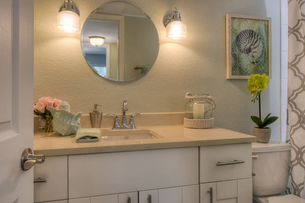 Master bathroom in North Redington Beach, Florida at El Mar