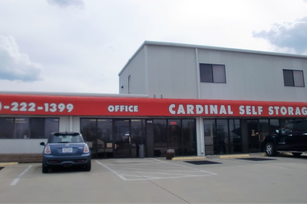 In front of Cardinal Self Storage - Burlington in Burlington, North Carolina