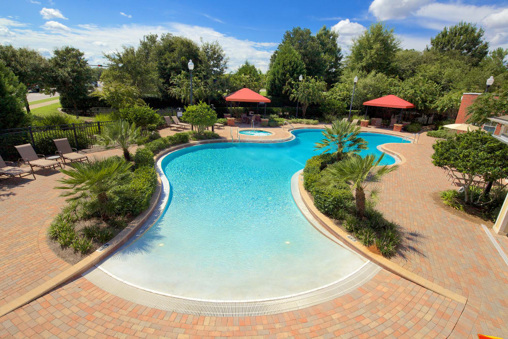 Zero entry pool at Provenza at Southwood in Tallahassee, Florida
