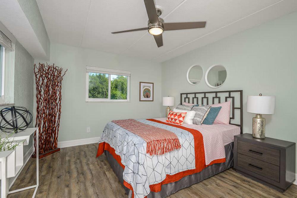 Large bedroom at Sailpointe Apartment Homes in South Pasadena, Florida