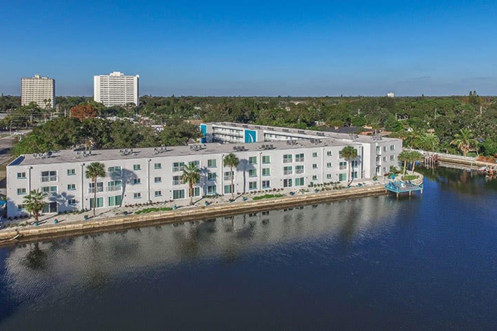 Aerial view of Sailpointe Apartment Homes in South Pasadena, Florida