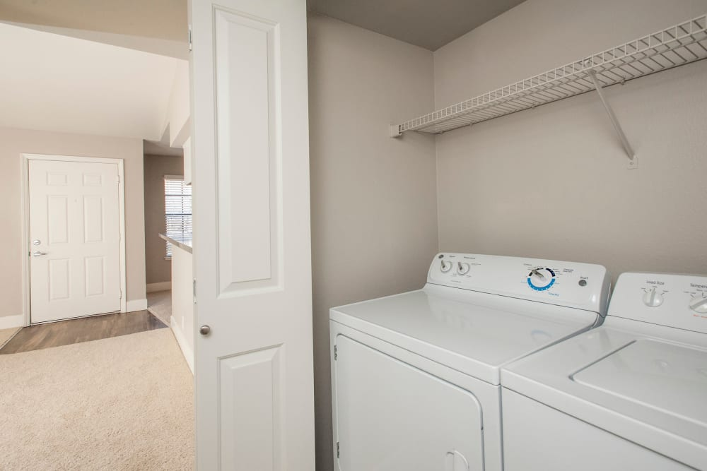 In-unit washer and dryer at Slate Creek Apartments in Roseville, California