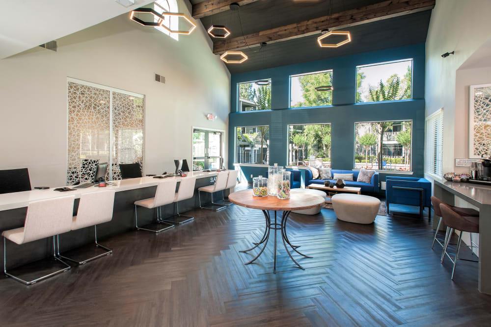 Beautiful lobby at Slate Creek Apartments in Roseville, California