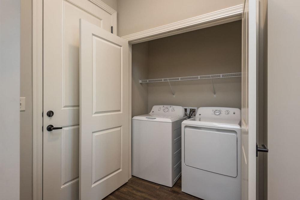 In-unit washer and dryer at Boulders at Overland Park Apartments in Overland Park, Kansas