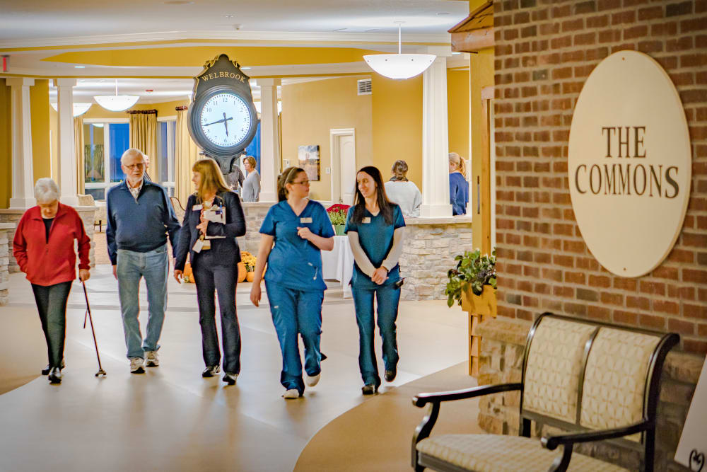 Residents and staff at Welbrook at Bloomington in Bloomington, Illinois