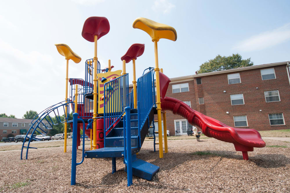 Outdoor playground at Westgate Apartments & Townhomes