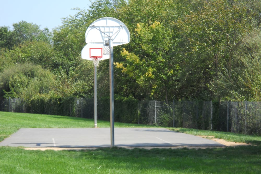 Outdoor basketball courts at Westgate Apartments & Townhomes