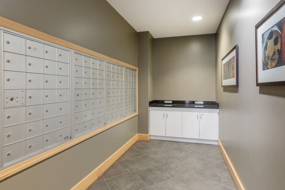 Lockers available at Kimball Towers at Burlington in Burlington, Massachusetts