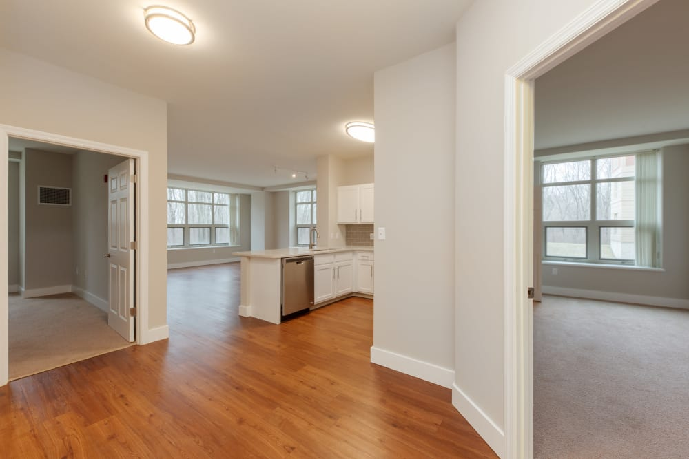 View of layout at apartments at Kimball Towers at Burlington in Burlington, Massachusetts