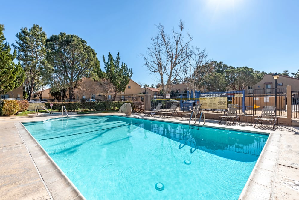 Our beautiful apartments in Lancaster, California showcase a swimming pool