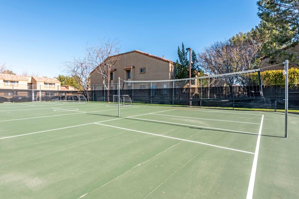 Tennis court at Granada Villas Apartment Homes in Lancaster, California